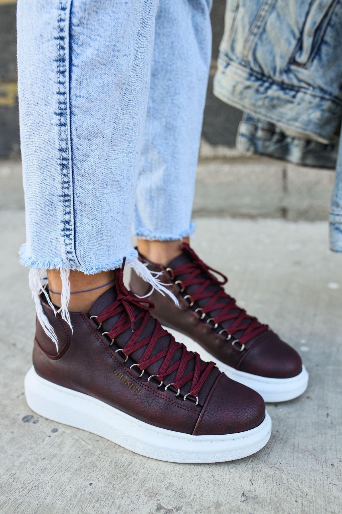 Chekich Ch258 Bt Kadın Bordo Sneaker 1