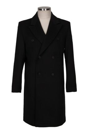 BLU % 100 Kaşmir Kruvaze Palto
