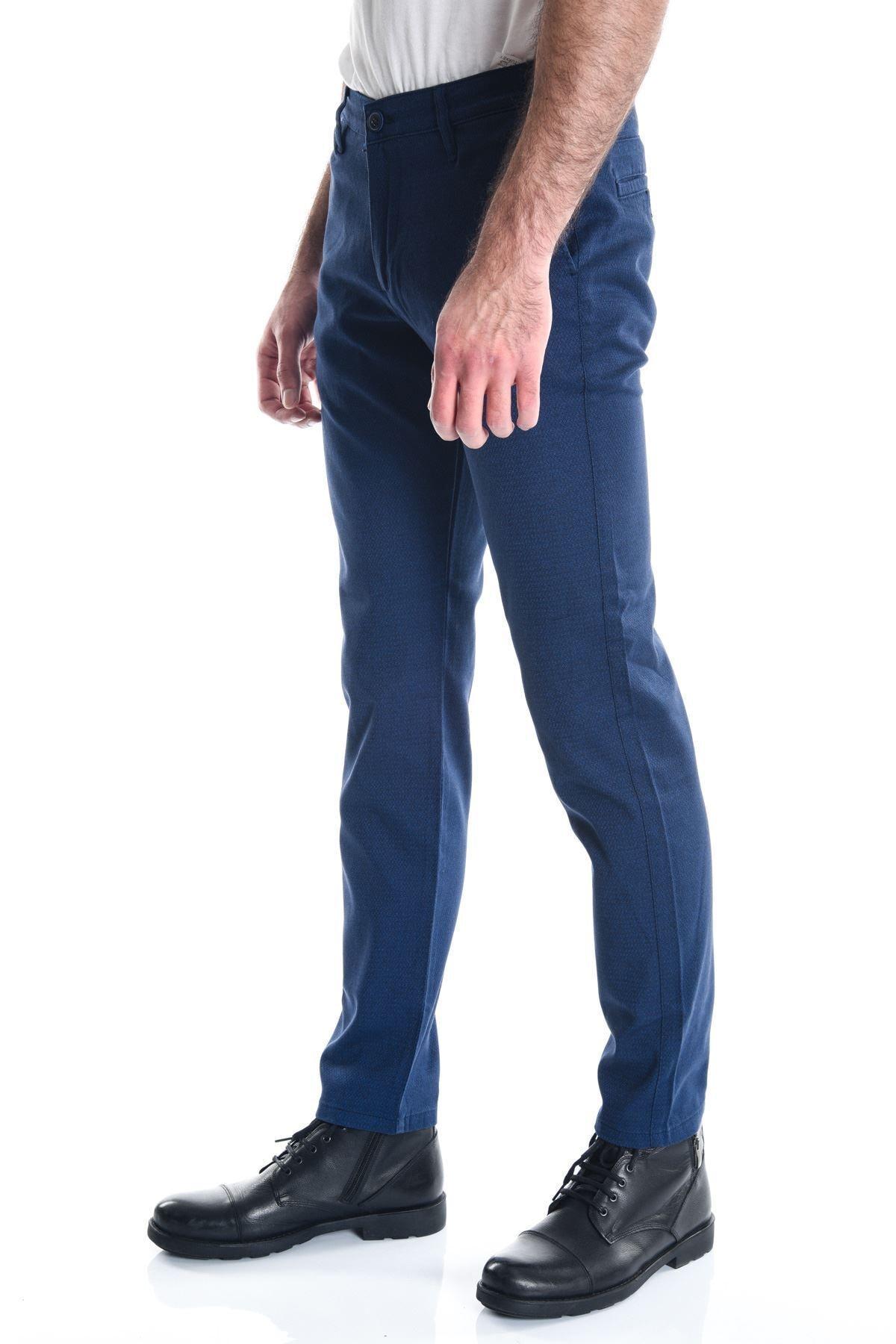 LTC Jeans Lacivert Desenli Armürlü Chino Erkek Pantolon 2