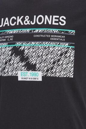 Jack & Jones Jack&jones 12188598 Dıkdortgen Kırcıl Ve Yazı Baskı Tshırt