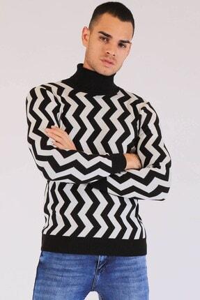 Twister Jeans Erkek Trıko Et 3474 (T) Sıyah-beyaz