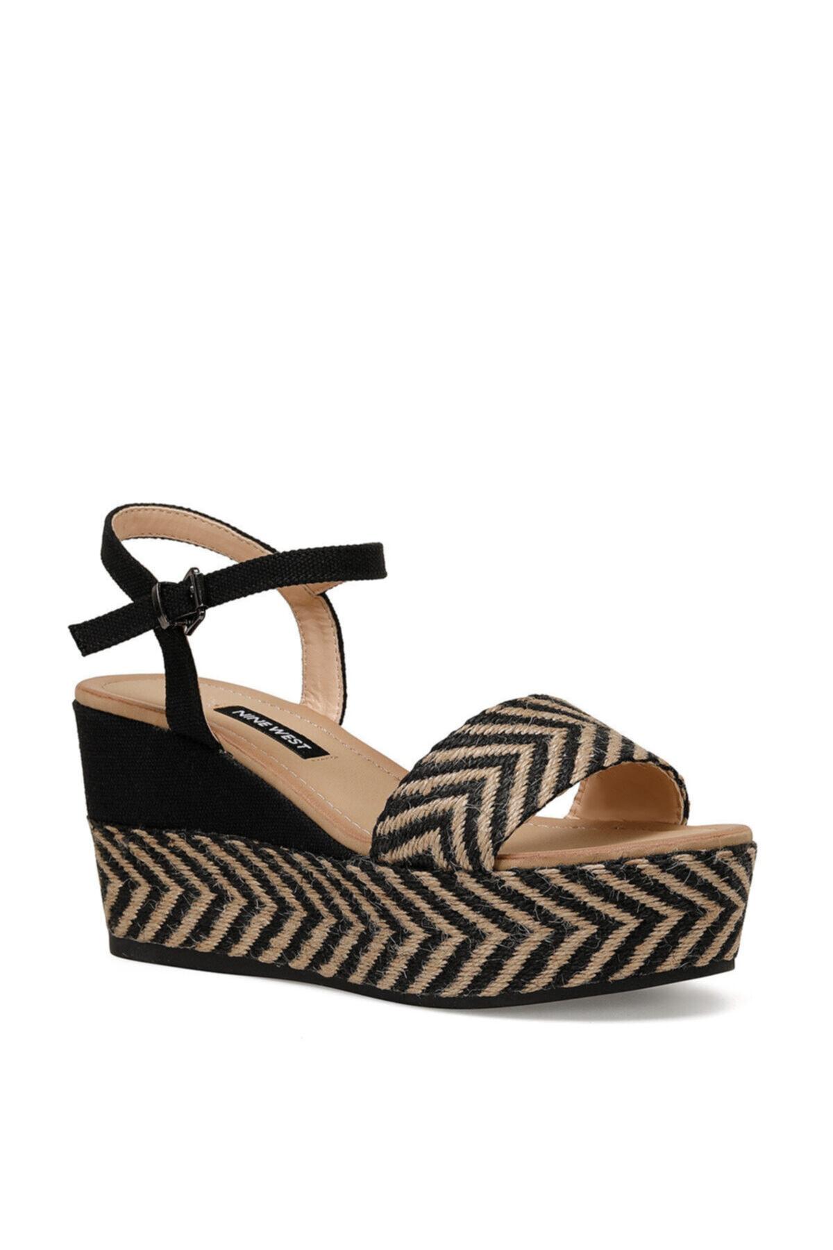 Nine West NORMA Siyah Kadın Dolgu Topuklu Sandalet 100524807 2
