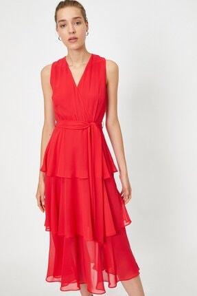 Koton Kadın Fırfırlı Şifon Kemerli Elbise 0yak84756fw