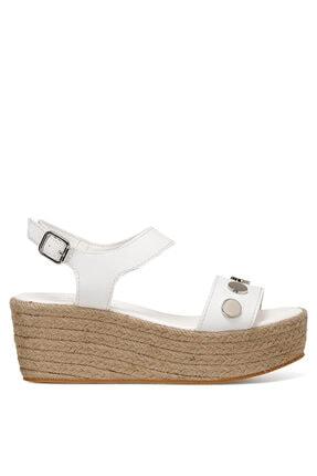 Nine West VALADON Beyaz Kadın Dolgu Topuklu Sandalet 100526220