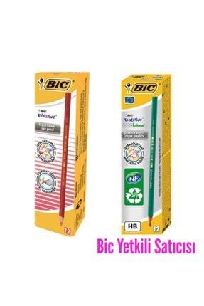 Bic Eco 650 Hb Kurşun Kalem 12 Li Evolution Kırmızı Kalem 12 Li