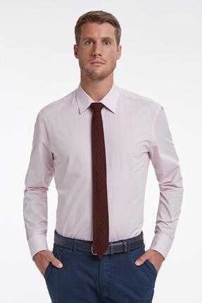 Hemington Dokulu Pembe Business Gömlek
