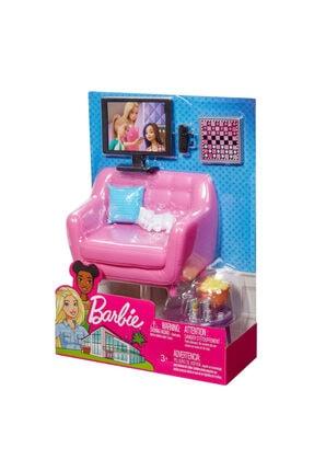 Barbie Barbie'nin Ev Içi Dekorasyon Aksesuarları Tv Ve Koltuk