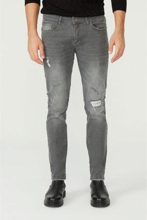 Avva Erkek Gri Slim Fit Jean Pantolon A02y3599