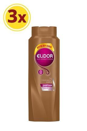 Elidor Saç Dökülmesine Karşı Bakım Saç Bakım Şampuanı 650 ml X3
