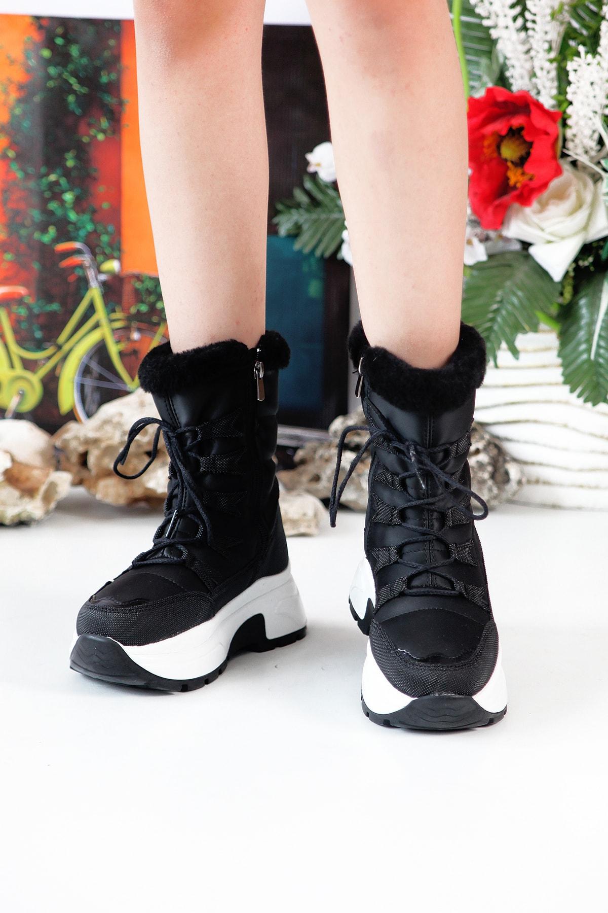 Twingo 7455 Kürklü Kadın Bot Ayakkabı 2