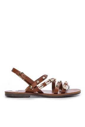 KEMAL TANCA Kadın Derı Sandalet Sandalet 607 1986 Byn Sndlt Y19