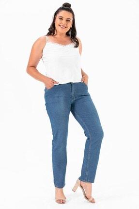 By Saygı Yüksek Bel Kot Pantolon Mavi