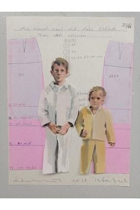 artoloji Didem Ünlü, Pijama partisi,Kağıt üzerine karışık teknik,22 x 29 cm