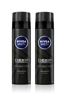Nivea Tıraş Köpüğü Deep Dimension 200 ml X 2 Adet