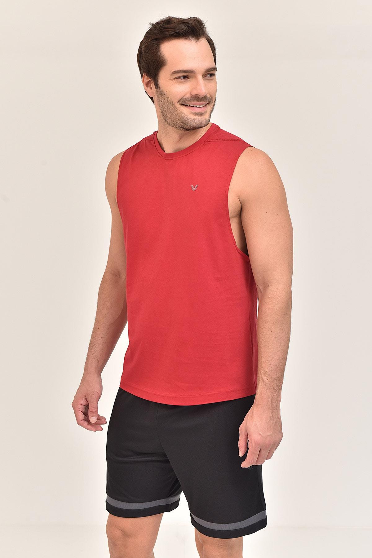 bilcee Bordo Pamuklu Erkek Atlet Fs-1622 1