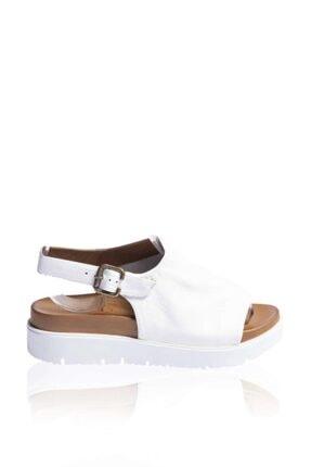 BUENO Shoes Hakiki Deri Kadın Kalın Düz Tabanlı Sandalet 9n3404