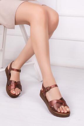 Deripabuc Hakiki Deri Twinkle-3 Kadın Deri Sandalet Dp-1079