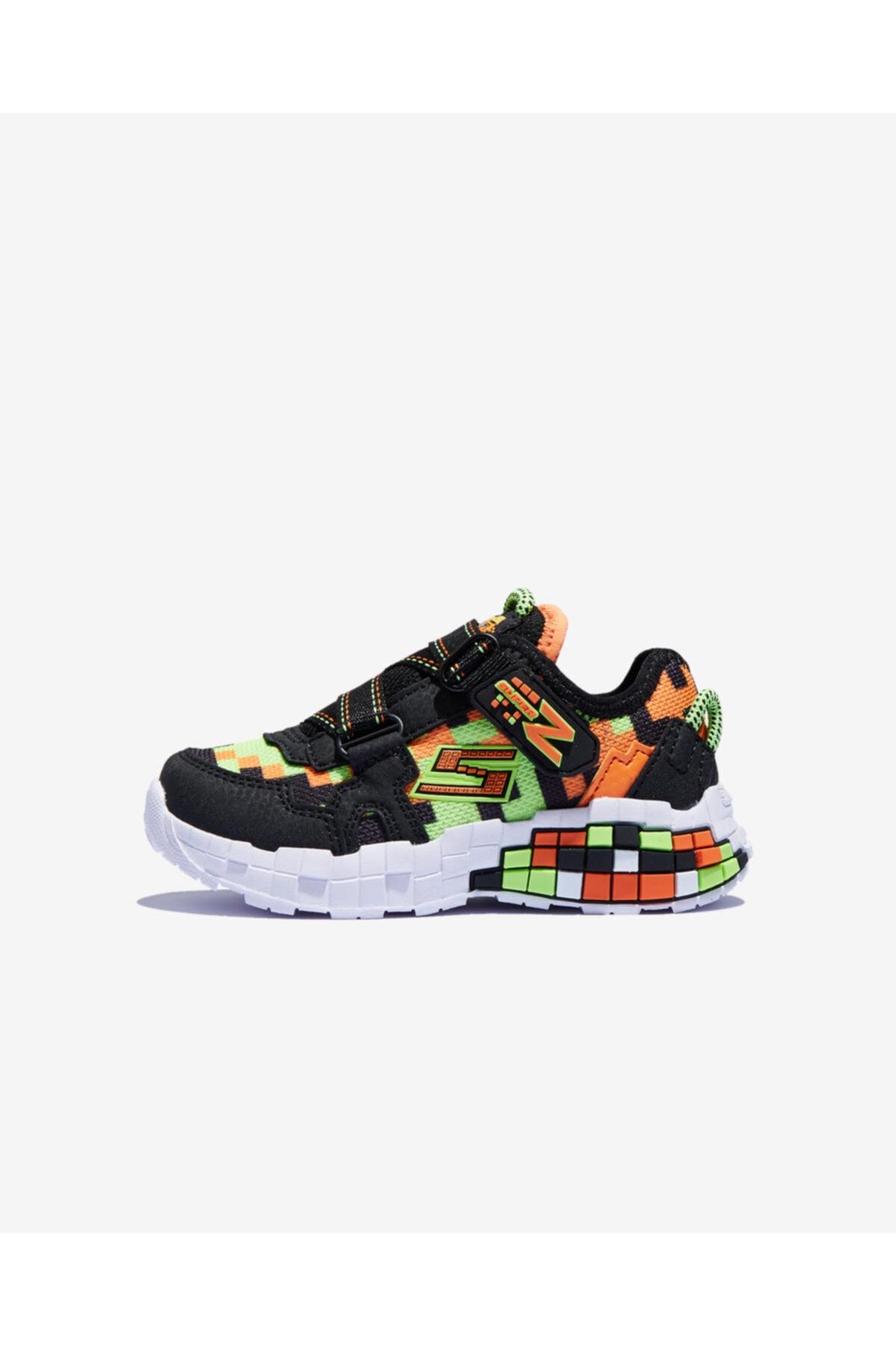 SKECHERS LIL MEGA-CRAFT Küçük Erkek Çocuk Siyah Sneakers 1