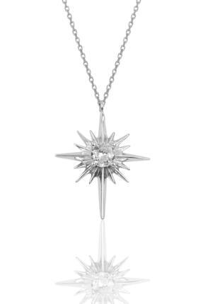 Söğütlü Silver Gümüş Kutup Yıldızı Modeli Kolye Sgtl10077