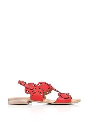 BUENO Shoes Kemerli Hakiki Deri Kadın Düz Sandalet 20wq5601