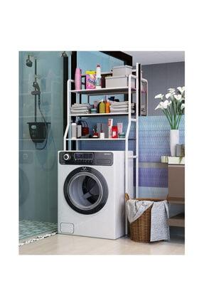 Morpanya Çamaşır Makinesi Üstü Düzenleyici Raf Banyo Dolabı Rafı Makina Üstü Dolap Raf Ny318
