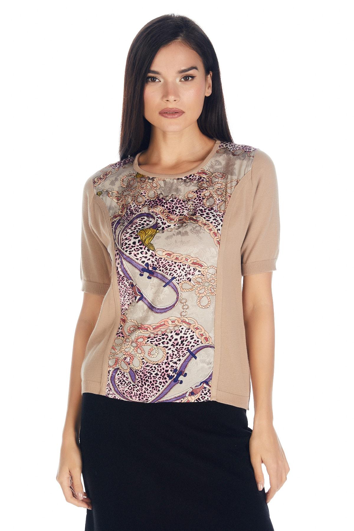 Solo Kadın Triko Japon Stil Pamuk Rayon Lüks Bluz 1