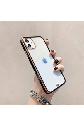 mooodcase Iphone 11 Premium Electrolize Silikonlu Siyah Telefon Kılıfı