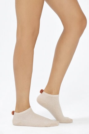 Penti Turuncu Bere 2li Patik Çorabı