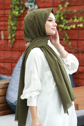 AFVENTE Kadın Haki Cotton Pamuk Şal Ck01