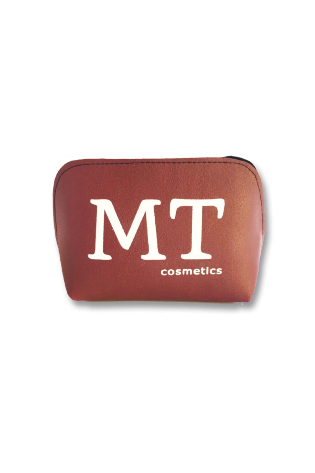 Makeuptime Mt Mat Deri Makyaj Çantası Bordo 1