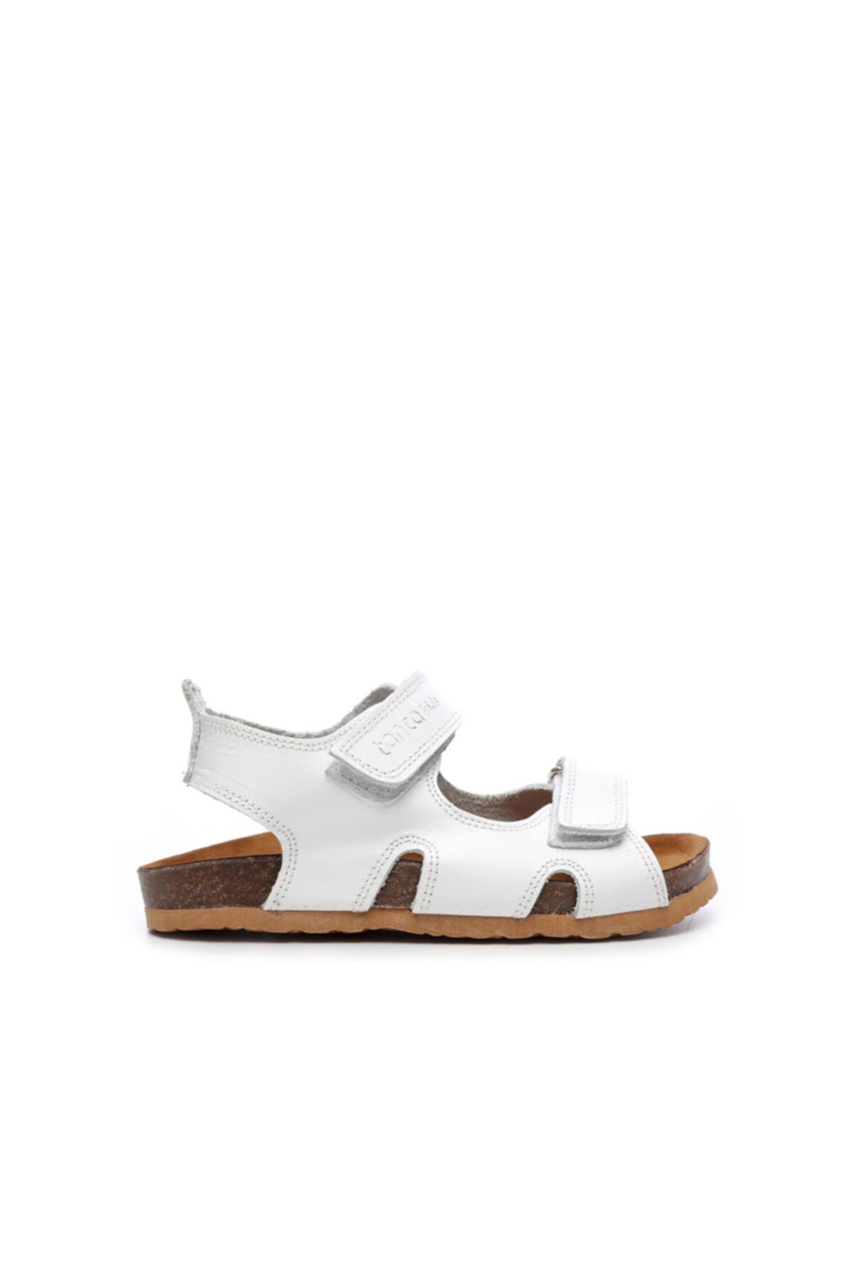KEMAL TANCA Unisex Çocuk Beyaz Derı Sandalet 719 300 Cck 22-30 Y19 1