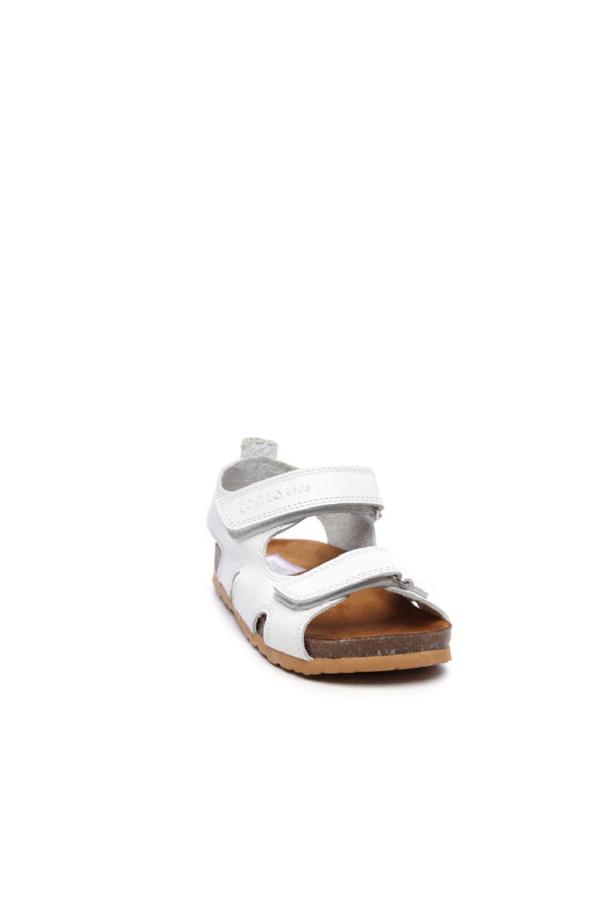 KEMAL TANCA Unisex Çocuk Beyaz Derı Sandalet 719 300 Cck 22-30 Y19 2