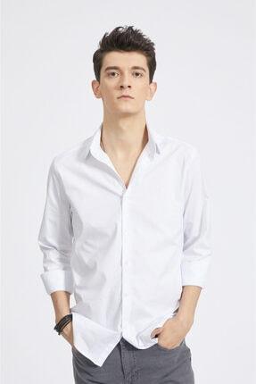 Avva Erkek Beyaz Düz Klasik Yaka Slim Fit Gömlek A02b2288
