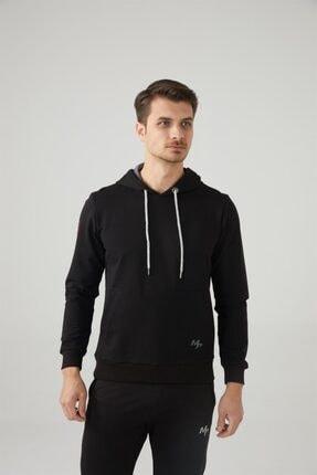 MP Erkek Kapşonlu Siyah Sweatshirt Tekstil 201-5001mr 100