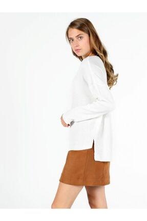 Colin's KADIN Regular Fit Dik Kadın Beyaz Kazak CL1050568