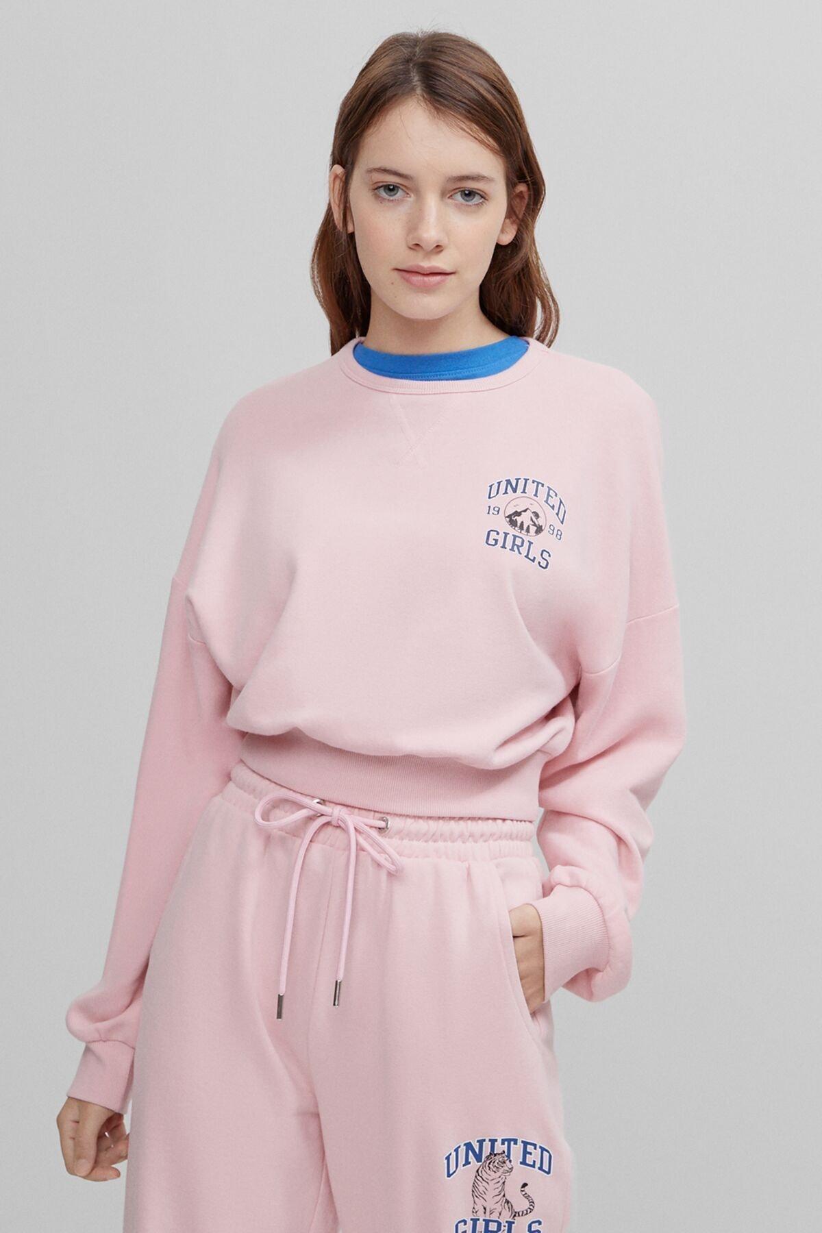 Bershka Baskılı Sweatshirt 1