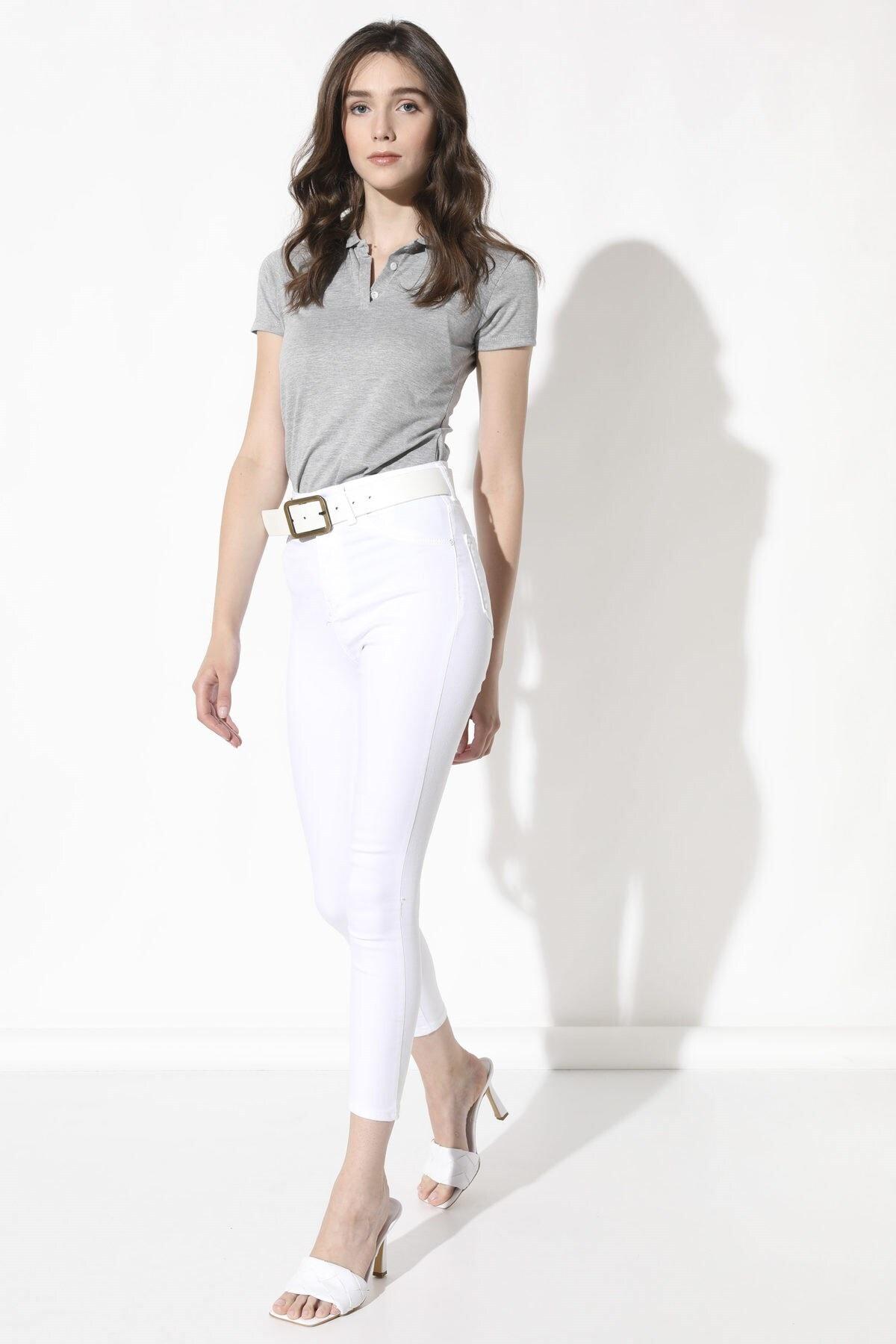 Arma Life Yüksek Bel Likralı Pantolon - Beyaz 2