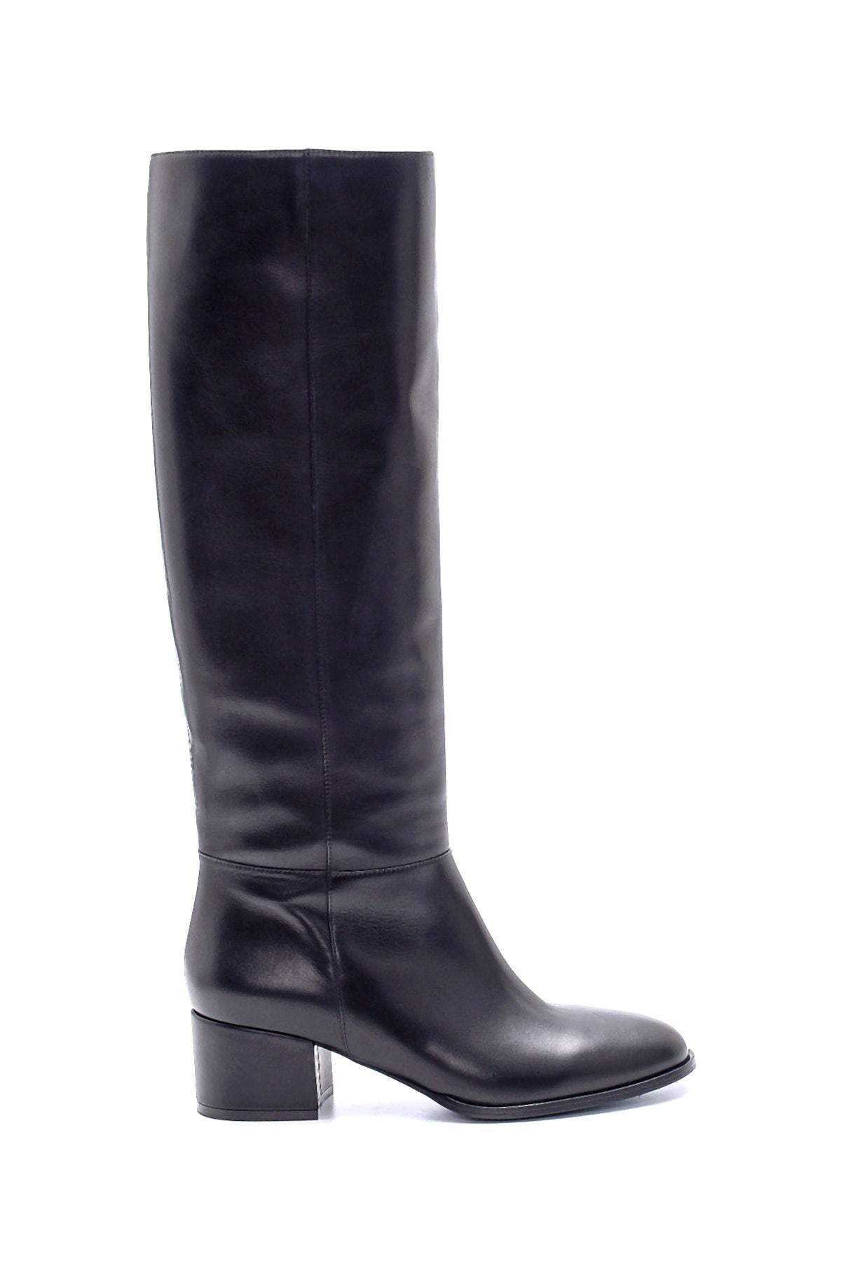 Derimod Kadın Deri Topuklu Çizme 1