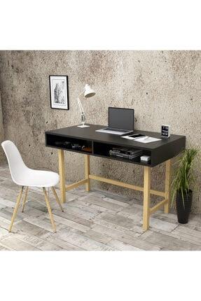 Yurudesign Masif A7 Çalışma Masası Retro 60cm Derinlik Siyah