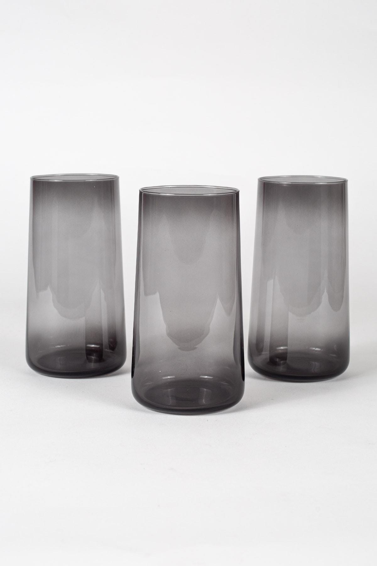 Rakle Shadow 3'lü Meşrubat Bardağı Seti Füme 540 Cc 1