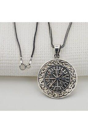 Tesbihsepetim Viking Pusulası Denizci Gümüş Kolye