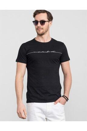 Tudors Slim Fit Bisiklet Yaka Baskılı T-shirt