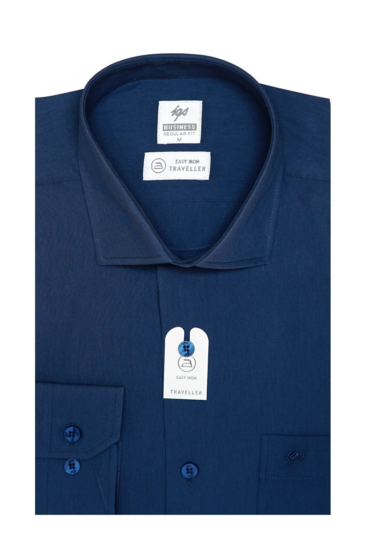 İgs Erkek Petrol Regularfıt / Rahat Kalıp 7 Cm Klasik Gömlek 2