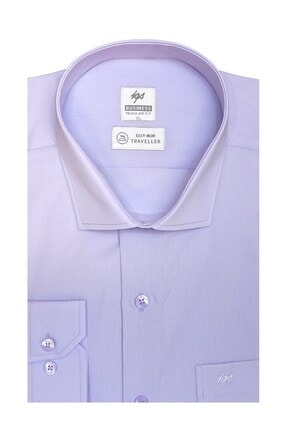 İgs Erkek Lila Regularfıt / Rahat Kalıp 7 Cm Klasik Gömlek