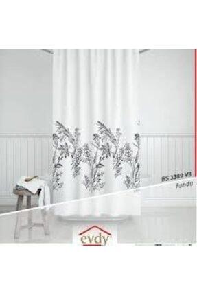 Evdy Duş Perdesi 3389 Funda Model Çift Kanat 2 X100 X200 Cm