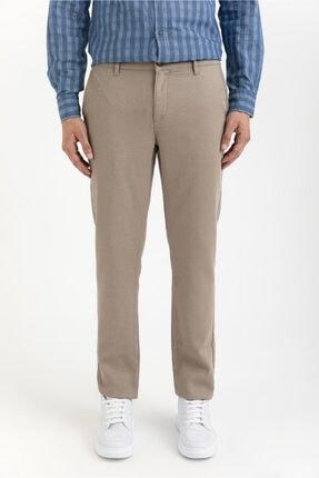 Avva Erkek Bej Yandan Cepli Armürlü Slim Fit Pantolon A01y3043