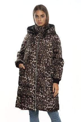 Vero Moda Kadın Desenli Kapişonlu Uzun Mont 10217760