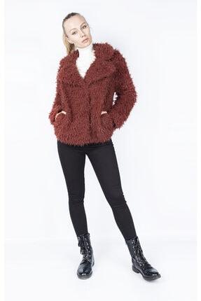 Vero Moda Kadın Bordo Tüylü Mont