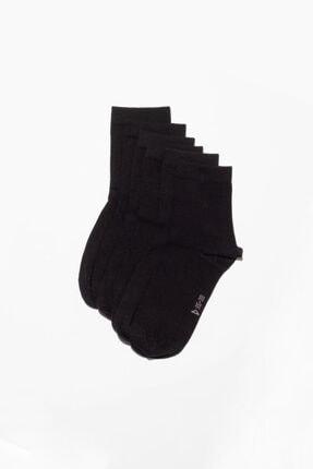 Katia&Bony 6'li Paket Unisex Basıc Soket Çorap- Siyah