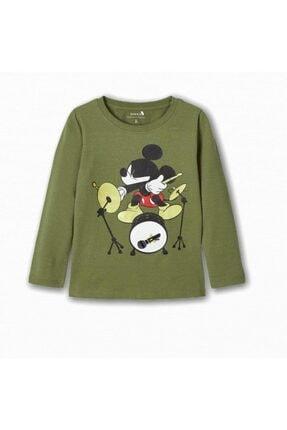 name ıt Erkek Çocuk Baterist Mickey Baskılı T-shirt